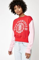 La Hearts Colorblock Vintage Crew Neck Sweatshirt