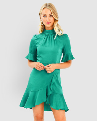 Forcast Nicole Jacquard Ruffle Dress