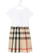 Burberry check skirt dress - kids - Cotton - 14 yrs
