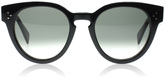 Celine Thin Preppy Sunglasses Black 807