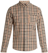 A.P.C. Checked cotton and linen-blend shirt