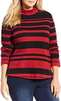 Westbound Plus Long Sleeve Mock Neck Top