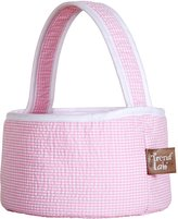 Trend Lab Gingham Seersucker Collapsible Round Caddy