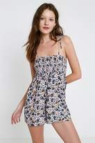 Out From Under Izzy Floral Smocked Playsuit