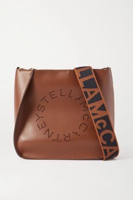 Stella McCartney Perforated Vegetarian Leather Shoulder Bag - Brown