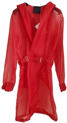 La Perla Red Silk Coat for Women
