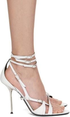 Alexander Wang White Kiely Heel Sandals
