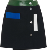Courreges Wool Multi-Color Mini Skirt