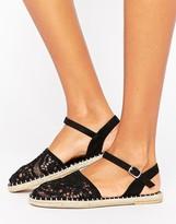 Vero Moda Lace Detail Espadrille Sandals
