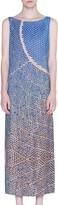 Akris Punto Solar Plants Print Sleeveless Maxi Dress