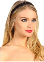 Jane Tran Beaded Embroidered Headband (Black) - Accessories