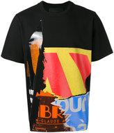 Juun.J multi-print T-shirt - men - Cotton/Viscose - 46