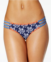 Jessica Simpson Vine About It Embroidered Strappy Hipster Bikini Bottoms