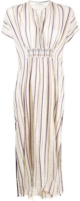 Forte Forte striped split-neck dress