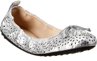 Tod's Gommino Studded Leather Ballerina Flat