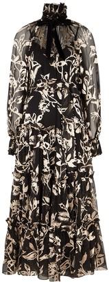 Zimmermann Ladybeetle floral devore maxi dress