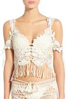 For Love & Lemons St. Lucia Crochet Lace Bikini Top