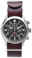 Jack Mason Brand Men&s Brand Chronograph Italian Leather Strap 42mm Watch