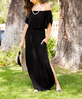 Sweet Pea Black Off-Shoulder Maxi Dress