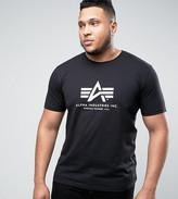 Alpha Industries Plus Logo T-Shirt Regular Fit In Black