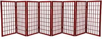 Oriental Furniture 3 ft. Tall Window Pane Shoji Screen - - 8 Panels