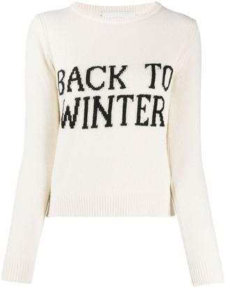 Alberta Ferretti Back To Winter intarsia jumper