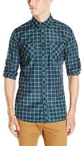 Akademiks Men's Howard Long Sleeve Plaid Buttondown Shirt (Various Colors and Sizes Including Big and Tall)