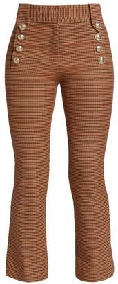 Derek Lam 10 Crosby Corinna Plaid Cropped Pants