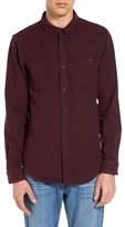 Ezekiel Men's Dallas Trim Fit Herringbone Woven Shirt