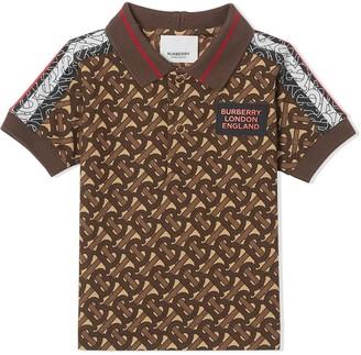 BURBERRY KIDS Monogram-Print Polo Shirt