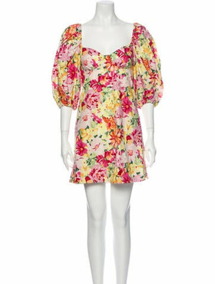 LPA Floral Print Mini Dress w/ Tags Pink