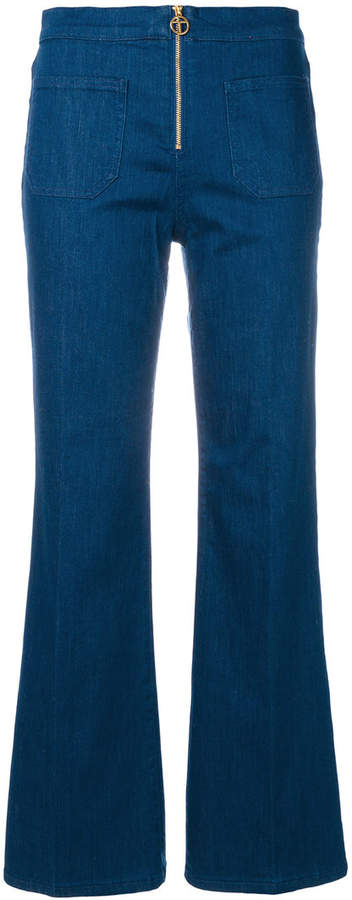 Tory Burch Luisa zip-front flare jeans