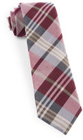 The Tie Bar Crystal Wave Silk Blend Plaid Tie