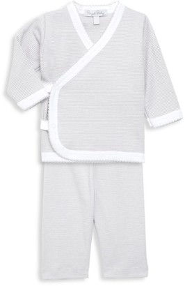 Royal Baby Baby's Striped 2-Piece Kimono Top & Pants Set