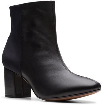 Clarks Collection Block Heel Booties - Chantelle Stone