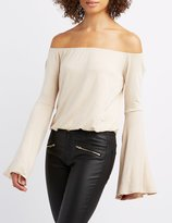 Charlotte Russe Off-The-Shoulder Bell Sleeve Top