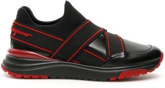 Salvatore Ferragamo Strapped Slip-On Sneakers