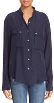 Frame Women's Long Sleeve Silk Shirt