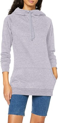 Urban Classics Women's Ladies High Neck Raglan Hoody Hooded Sweatshirt