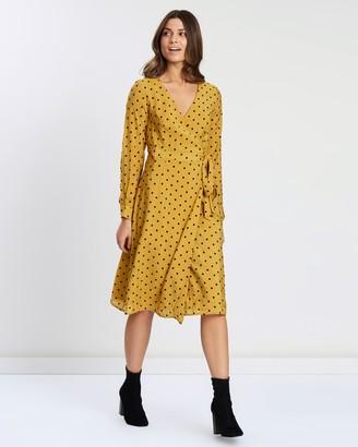 Atmos & Here Iris Midi Wrap Dress