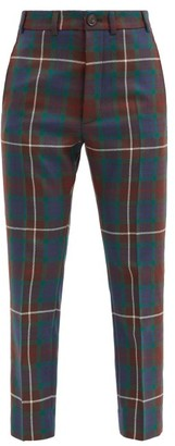 Vivienne Westwood George Tartan Wool Trousers - Brown Multi