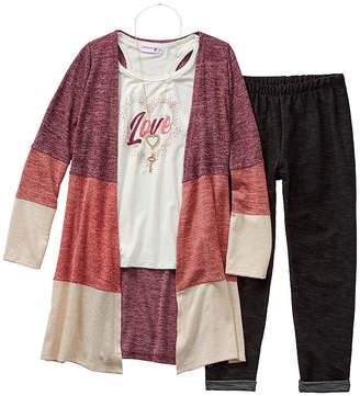 Knitworks Knit Works Girls 3-pc. Legging Set - Big Kid