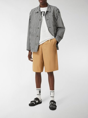 Burberry Icon Stripe detail tailored shorts