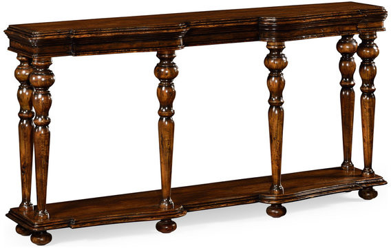 Thumbnail for your product : Jonathan Charles Fine Furniture Rectangular Rustic Walnut Console
