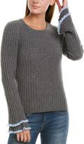 Design History Ruffle Cashmere Sweater