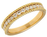 Lord & Taylor 14K Yellow Gold Rope Edge Ring