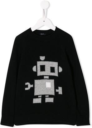 Il Gufo Robot Print Sweater