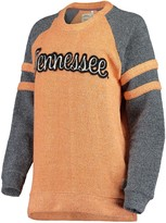 Unbranded Women's Pressbox Tennessee Orange Tennessee Volunteers Dawn Twisted Terry Raglan Sleeve Stripe Crew Sweatshirt