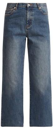 A.P.C. Sailor High-rise Cropped Jeans - Womens - Light Denim