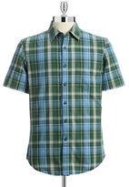 Hudson North Short Sleeve Plaid Sport Shirt
